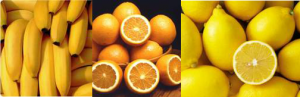 bananas oranges lemons